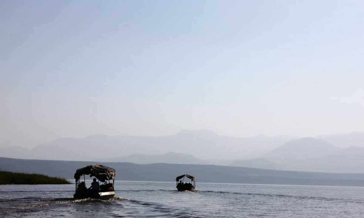 Boats on Lake Chamo