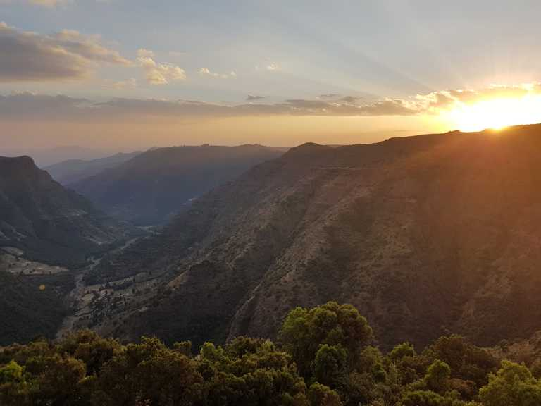 Simien sunset